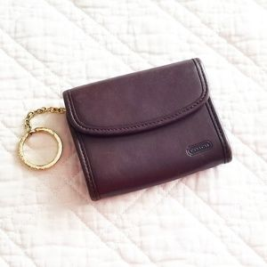 Vintage Coach wallet in mahogany